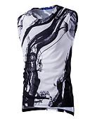 ราคาถูก เสื้อยืดและเสื้อกล้ามผู้ชาย-สำหรับผู้ชาย เสื้อกล้าม ซึ่งทำงานอยู่ Sport ลายพิมพ์ คอกลม เพรียวบาง ขาว / เสื้อไม่มีแขน / ฤดูร้อน