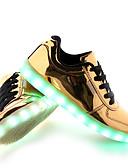 billige Zentai-Herre LED-sko PU Vår / Høst LED Treningssko Sklisikker Gull / Sølv / Snøring / Komfort Sko / Lys opp sko / EU42