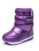 povoljno Džemperi i kardigani za bebe-Djevojčice Udobne cipele / Čizme za snijeg Sintetika / Umjetna koža Čizme Mala djeca (4-7s) Hodanje Mat selotejp Crn / purpurna boja / Fuksija Zima