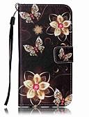 billiga Samsung-tilbehør-fodral Till Samsung Galaxy S8 Plus / S8 / S7 edge Plånbok / Korthållare / med stativ Fodral Fjäril Hårt PU läder