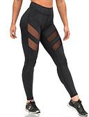 ราคาถูก เลกกิ้ง-สำหรับผู้หญิง ฝ้าย Sexy สปอร์ตตี้ ที่ปกคลุมขา - สีพื้น, ตารางไขว้ ข้อมือระดับกลาง สีดำ L XL XXL / สกินนี่
