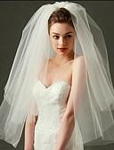 ราคาถูก ม่านสำหรับงานแต่งงาน-Two-tier ตัดมุม ผ้าคลุมหน้าชุดแต่งงาน Blusher Veils / Elbow Veils / ผ้าคลุมศรีษะสำหรับชุดแต่งงาน กับ Tulle / คลาสสิก