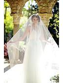 ราคาถูก ม่านสำหรับงานแต่งงาน-ชั้นเดียว ตัดมุม ผ้าคลุมหน้าชุดแต่งงาน Blusher Veils / ผ้าคลุมหน้าในโบสถ์ กับ Tulle / คลาสสิก