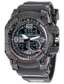 ราคาถูก นาฬิกาข้อมือสายหนัง-สำหรับผู้ชาย นาฬิกาแนวสปอร์ต นาฬิกาทหาร นาฬิกาดิจิตอล ดิจิตอล ยาง เทา 30 m กันน้ำ ปฏิทิน โครโนกราฟ อะนาล็อก-ดิจิตอล คลาสสิก วินเทจ ไม่เป็นทางการ แฟชั่น นาฬิกาตกแต่งข้อมือ - สีเหลือง ฟ้า สีเขียว hunter