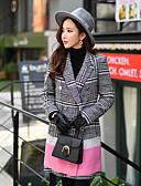 ราคาถูก ผ้าขนสัตว์และขนสัตว์สตรีผสมผสาน-DABUWAWA® เสื้อโค้ท กลางแจ้ง สำหรับ ฤดูใบไม้ผลิ & ฤดูใบไม้ร่วง ฤดูหนาว เสื้อโค้ท & แจ็กเก็ต Outerwear เสื้อผ้าถัก / ยาว / ทำงาน