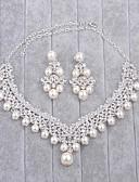 povoljno Haljine za majku mlade-Žene Imitacija Pearl / Umjetno drago kamenje Nakit Set - uključiti Pink Za Vjenčanje