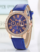 ราคาถูก นาฬิกาดิจิตอลสตรี-Geneva สำหรับผู้หญิง นาฬิกาข้อมือ นาฬิกาเพชร นาฬิกาอิเล็กทรอนิกส์ (Quartz) PU Leather ดำ / สีขาว / แดง เลียนแบบเพชร ระบบอนาล็อก สุภาพสตรี เสน่ห์ วิบวับ ไม่เป็นทางการ แฟชั่น - ฟ้า สีชมพู สีเขียว hunter