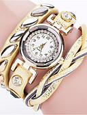 ราคาถูก นาฬิกาข้อมือ-สำหรับผู้หญิง นาฬิกาสร้อยข้อมือ นาฬิกาข้อมือ นาฬิกาอิเล็กทรอนิกส์ (Quartz) PU Leather ดำ / สีขาว / ฟ้า เท่ห์ Punk ระบบอนาล็อก สุภาพสตรี เสน่ห์ วินเทจ ไม่เป็นทางการ โบฮีเมียน - ฟ้า สีชมพู สีฟ้า