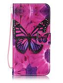ราคาถูก เคสสำหรับโทรศัพท์มือถือ-Case สำหรับ Samsung Galaxy On 5 / J7 (2016) / J5 (2016) Wallet / Card Holder / Flip ตัวกระเป๋าเต็ม Butterfly Hard หนัง PU