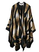ราคาถูก ผ้าคลุมไหล่-สำหรับผู้หญิง รูปเรขาคณิต ขนสัตว์เทียม สี่เหลี่ยมผืนผ้า / ตก / ฤดูหนาว