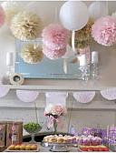 ราคาถูก ของชำร่วยงานแต่งที่แขวน-กลีบดอกไม้ Pearl Paper / วัสดุที่เป็นมิตรกับสิ่งแวดล้อม เครื่องประดับจัดงานแต่งงาน คริสมาสต์ / งานแต่งงาน / วันครบรอบ ธีมเอเชีย / ธีมผีเสื้อ / ธีมคลาสสิก ฤดูใบไม้ผลิ / ฤดูร้อน / ตก / ธีมวินเทจ