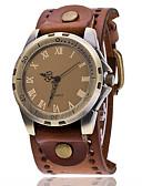ราคาถูก นาฬิกากีฬา-สำหรับผู้ชาย นาฬิกาข้อมือ หนัง ดำ / สีขาว / ฟ้า เท่ห์ Punk ระบบอนาล็อก เสน่ห์ คลาสสิก วินเทจ ไม่เป็นทางการ โบฮีเมียน - แดง สีเขียว ฟ้า หนึ่งปี อายุการใช้งานแบตเตอรี่