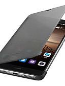 baratos Capinhas para Huawei-Capinha Para Huawei Mate 9 Hibernação / Ligar Automático / Flip Capa Proteção Completa Sólido Rígida PU Leather
