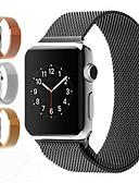 baratos Bandas de Smartwatch-Pulseiras de Relógio para Apple Watch Series 5/4/3/2/1 Apple Pulseira Estilo Milanês Aço Inoxidável Tira de Pulso