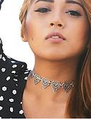Χαμηλού Κόστους Quartz Ρολόγια-Γυναικεία Κολιέ Τσόκερ τατουάζ σφικτό Φούντα Καρδιά Love κυρίες Τατουάζ Θύσανος Κράμα Χρώμα Οθόνης Κολιέ Κοσμήματα Για Ευχαριστώ Βαλεντίνος