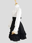povoljno Lolita haljine-Princeza Classic Lolita Haljine Izgledi Žene Djevojčice Pamuk Japanski Cosplay Kostimi Crn Jednobojni Dugih rukava Do koljena / Classic / Tradicionalna Lolita
