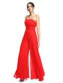 ราคาถูก ชุดเพื่อนเจ้าสาว-ชีท / คอลัมน์ / Jumpsuits ไร้สาย ลากพื้น ชิฟฟอน เปิดหลัง Prom / ทางการ แต่งตัว กับ จีบ / จับจีบ โดย TS Couture®