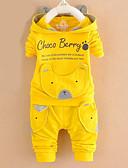 billige Sett med Gutter babyklær-Baby Gutt Aktiv Daglig Hund Tegneserie Bokstaver Trykt mønster Langermet Normal Bomull Tøysett Mørkeblå