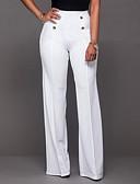 povoljno Majica s rukavima-Žene Dnevno Izlasci Klasične hlače / Wide Leg / Chinos Hlače - Jednobojni Formalno Style Crn Fuksija Lila-roza L XL XXL