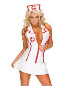 billige Sexy kostymer-Dame karriere Kostymer Sykepleiere Hospitalsuniformer Kjønn Cosplay Kostumer Party-kostyme Fargeblokk Skjørte Hatt / Spandex