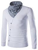 ราคาถูก เน็กไทและโบว์ไท-สำหรับผู้ชาย เสื้อเชิร์ต Sport คอกลม ลายบล็อคสี สีดำ / แขนยาว / ฤดูใบไม้ผลิ / ตก