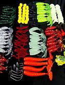povoljno Ženski jednodijelni kostimi-129 pcs Soft Bait Csali Soft Bait Multifunkcionalni Sinking Bass Pastrva Štuka Mamac Casting Općenito Ribolov Mekana plastika PE