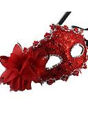 baratos Máscaras-Máscara Mascarada Mascara de carnaval Inspirado por Carnaval Veneziano Marron Dourado Dia Das Bruxas Carnaval Ano Novo Adulto Mulheres Feminino