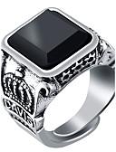 Χαμηλού Κόστους Ψηφιακά Ρολόγια-Ανδρικά Δαχτυλίδι Δακτυλίδι με σφραγίδα Μαύρο Κόκκινο Πράσινο Ρητίνη Κράμα Μοντέρνα Στρατιωτικό Γάμου Πάρτι Κοσμήματα Πασιέντζα Δαχτυλίδια γυμνασίου Τάξη