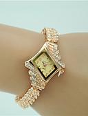 Χαμηλού Κόστους Ρολόγια Βραχιόλια-Γυναικεία Βραχιόλι Ρολόι Diamond Watch χρυσό ρολόι Χαλαζίας Χρυσό απομίμηση διαμαντιών Αναλογικό κυρίες Φυλαχτό Μοντέρνα Κομψό Ρολόι Φορέματος - Χρυσό Ενας χρόνος Διάρκεια Ζωής Μπαταρίας