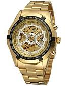 Χαμηλού Κόστους Μηχανικά Ρολόγια-FORSINING Ανδρικά Διάφανο Ρολόι Ρολόι Καρπού μηχανικό ρολόι Αυτόματο κούρδισμα Ανοξείδωτο Ατσάλι Χρυσό Εσωτερικού Μηχανισμού Αναλογικό Πολυτέλεια Μοντέρνα - Χρυσό Λευκό Μαύρο