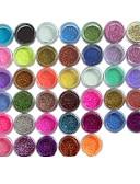 cheap Women's Sweaters-45pcs Metal Shiny Fine Glitter Nail Art Kit Acrylic UV Powder Polish Tips Set