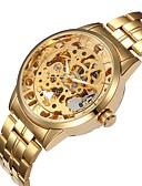 Χαμηλού Κόστους Μηχανικά Ρολόγια-Ανδρικά Μοδάτο Ρολόι Ρολόι Καρπού μηχανικό ρολόι Αυτόματο κούρδισμα Πολύχρωμο 30 m Εσωτερικού Μηχανισμού Αναλογικό Καθημερινό - Χρυσό Ασημί