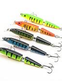 ราคาถูก เสื้อโปโลสำหรับผู้ชาย-5 pcs ที่ลวงตาในเบ็ด Hard Bait Minnow อุปกรณ์ลอยน้ำ Bass ปลาเทราท์ หอก ตกปลาทะเล เบทคาสติ้ง การตกปลาแบบ Jigging พลาสติกแบบแข็ง / ปลาน้ำจืด / อุปกรณ์ตกปลาบาส / เหยื่อตกปลา / การตกปลาทั่วไป