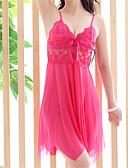 ราคาถูก เสื้อคลุมและชุดนอน-สำหรับผู้หญิง แยก ซูเปอร์เซ็กซี่ สไตลตุ๊กตาเบบี้ เสื้อนอน สีพื้น สีชมพู ไวน์ L XL XXL