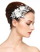 baratos Relógios de quartzo-Imitação de Pérola / Renda / Strass Flores / Presilha de cabelo com 1 Casamento / Ocasião Especial Capacete