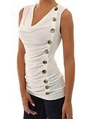 baratos Conjuntos para Meninas-Mulheres Camiseta - Feriado / Para Noite Moda de Rua Sólido Decote V Branco / Primavera / Verão