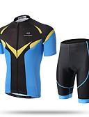 Χαμηλού Κόστους Ανδρικά Ρολόγια-XINTOWN Ανδρικά Κοντομάνικο Φανέλα και σορτς ποδηλασίας Μαύρο / Μπλε Ποδήλατο Κοντά Παντελονάκια Παντελόνια Αθλητική μπλούζα / Αναπνέει / Γρήγορο Στέγνωμα / Περιορίζει τα Βακτήρια / Ελαστικό