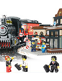 Χαμηλού Κόστους Ρόμπες και πιτζάμες-AUSINI Τουβλάκια 526 pcs Ουρά Απίθανο Πρωτότυπες Ηλεκτρικό Τρένο Trenuri Joc & Seturi Tren Αγορίστικα Παιχνίδια Δώρο
