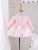 povoljno Haljinice za bebe-Dijete Djevojčice Mašna Dnevno / Izlasci Jednobojni Dugih rukava Pamuk Haljina Blushing Pink