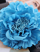 ราคาถูก ที่คาดผมสตรี-ผ้า / ซาติน fascinators / ดอกไม้ / ฮารด์แวร์ กับ ดอกไม้ 1pc งานแต่งงาน / โอกาสพิเศษ / กลางแจ้ง หูฟัง