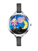 ราคาถูก นาฬิกาข้อมือสายหนัง-สำหรับผู้หญิง นาฬิกาแฟชั่น นาฬิกาข้อมือ นาฬิกาอิเล็กทรอนิกส์ (Quartz) PU Leather ดำ 30 m นาฬิกาใส่ลำลอง ระบบอนาล็อก Cartoon - ฟ้า