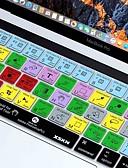 ราคาถูก อุปกรณ์เสริมสำหรับ Mac-xskn® Photoshop CC ทางลัดผิวแป้นพิมพ์ซิลิโคนและป้องกันแถบสัมผัส 2016 MacBook Pro ใหม่ 13.3 / 15.4 มีแถบสัมผัสจอประสาทตา (US / รูปแบบ EU)