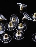 baratos Relógios de quartzo-Mulheres Parte de Trás do Brinco senhoras Básico Prata Chapeada Chapeado Dourado Brincos Jóias Dourado / Prata Para Diário Casual 50pçs