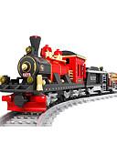 Χαμηλού Κόστους Ρόμπες και πιτζάμες-AUSINI Τουβλάκια 410 pcs Ουρά Απίθανο Πρωτότυπες Ηλεκτρικό Τρένο Trenuri Joc & Seturi Tren Αγορίστικα Παιχνίδια Δώρο