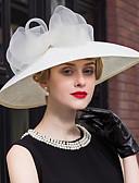 ราคาถูก ที่คาดผมสตรี-ลูกไม้ลินินหมวก headpiece งานแต่งงานงานสง่างามสไตล์คลาสสิกผู้หญิง
