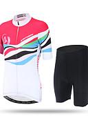 Χαμηλού Κόστους Δέρμα-XINTOWN Γυναικεία Κοντομάνικο Φανέλα και σορτς ποδηλασίας Ροζ Ποδήλατο Κοντά Παντελονάκια Παντελόνια Αθλητική μπλούζα Αναπνέει Γρήγορο Στέγνωμα Υπεριώδης Αντίσταση Πίσω τσέπη Περιορίζει τα Βακτήρια
