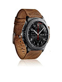Χαμηλού Κόστους Smartwatch Bands-Παρακολουθήστε Band για Gear S3 Frontier / Gear S3 Classic Samsung Galaxy Αθλητικό Μπρασελέ Δέρμα Λουράκι Καρπού