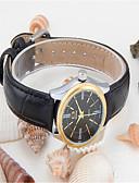 ราคาถูก นาฬิกาข้อมือสายหนัง-สำหรับผู้หญิง นาฬิกาแฟชั่น นาฬิกาอิเล็กทรอนิกส์ (Quartz) หนัง ดำ ระบบอนาล็อก ไม่เป็นทางการ - ขาว สีดำ