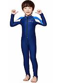ราคาถูก ชุดดำน้ำ-Dive&Sail เด็กผู้ชาย ดำน้ำที่เหมาะกับสภาพผิว 0.5มม. สแปนเด็กซ์ ชุดดำน้ำ SPF50 การป้องกันรังสียูวี ระบายอากาศ Full Body ซิปรูดด้านหน้า - การว่ายน้ำ การดำน้ำ คลาสสิก ฤดูใบไม้ผลิ ฤดูร้อน / แห้งเร็ว