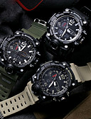 ราคาถูก นาฬิกาดิจิทัล-สำหรับผู้ชาย นาฬิกาแนวสปอร์ต นาฬิกาทหาร นาฬิกาข้อมือ ญี่ปุ่น ดิจิตอล ยางทำจากซิลิคอน ดำ / เขียว / กากี 30 m กันน้ำ นาฬิกาปลุก ปฏิทิน นาฬิกา LED อะนาล็อก-ดิจิตอล / สองปี / เรืองแสง / นาฬิกาจับเวลา